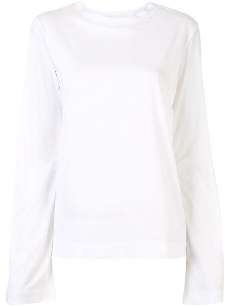 Хлопковая белая прямая футболка с круглым вырезом Sofie D'hoore