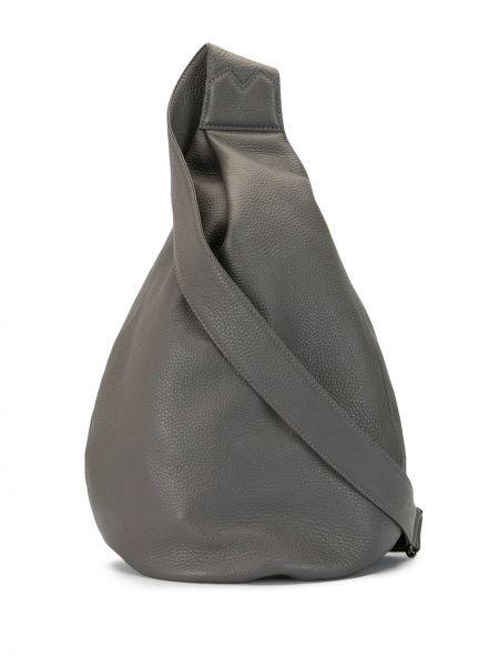 Серая сумка через плечо с перьями на молнии матовая Discord Yohji Yamamoto