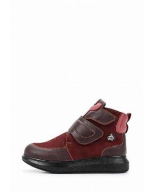 Ботинки бордовый из нубука Patrol