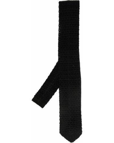 Trykotowy jedwab czarny gumka do włosów Missoni