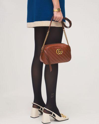 Czarne pończochy z nylonu Gucci