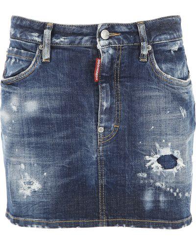 Niebieska spódnica jeansowa bawełniana Dsquared