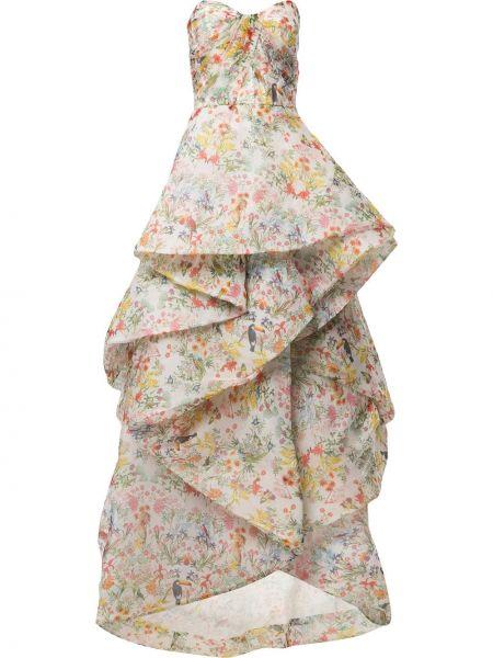 Шелковое платье Monique Lhuillier