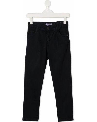 Классические синие облегающие джинсы на молнии Cesare Paciotti 4us Kids