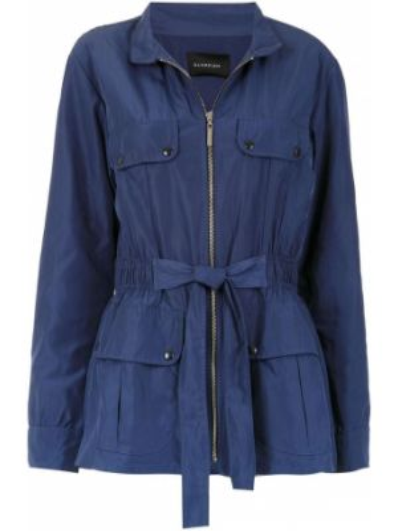 Синяя куртка на молнии с круглым вырезом Olympiah