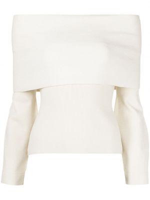 Biała koszulka z wiskozy Altuzarra