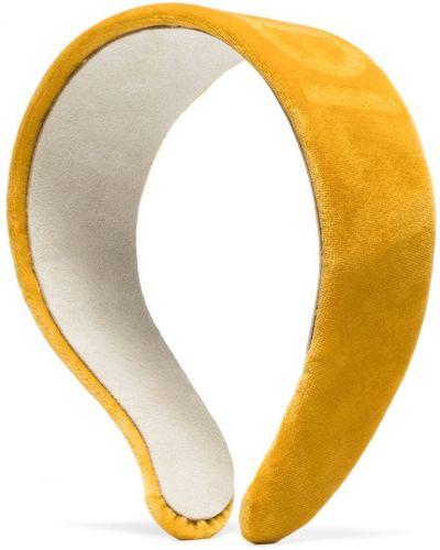 Bawełna bawełna żółty opaska na głowę Fendi