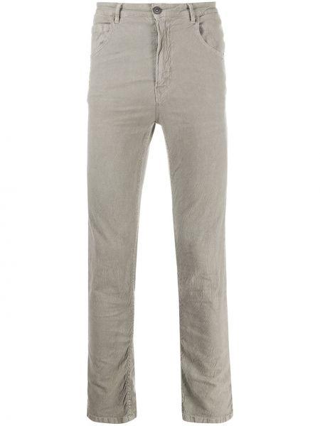 Классические серые брюки на пуговицах узкого кроя Poème Bohémien