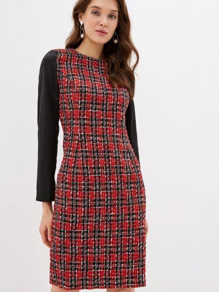 Платье прямое красный Cavo