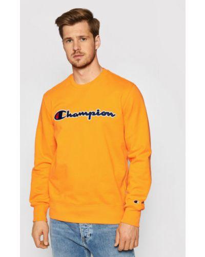 Satynowy dres - pomarańczowa Champion