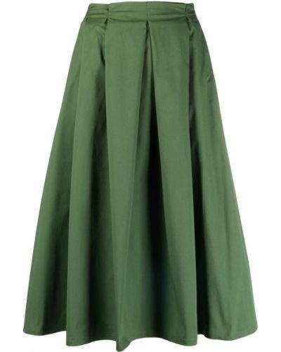 С завышенной талией зеленая плиссированная юбка SociÉtÉ Anonyme