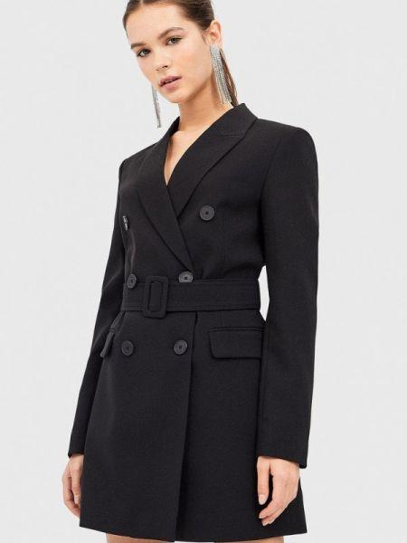 Платье платье-пиджак черное Stradivarius