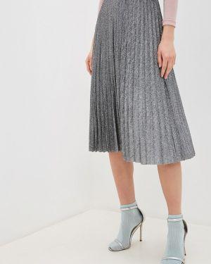 Серебряная плиссированная юбка Zarina