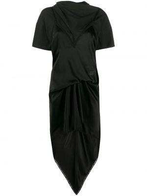 Sukienka mini z rękawami czarny Alexander Wang