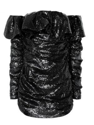 Платье мини с пайетками через плечо The Attico