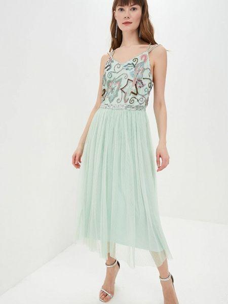 Вечернее платье индийский зеленый Frock And Frill