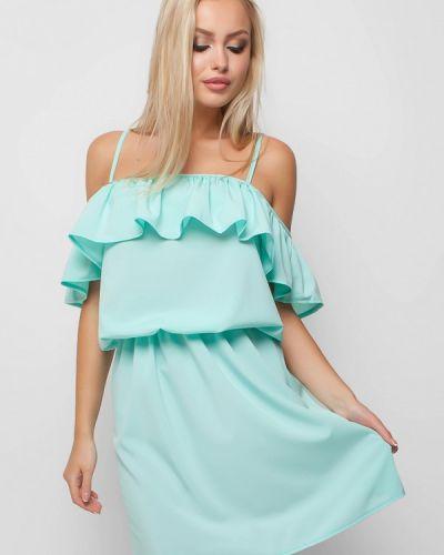 Бирюзовое платье мини Karree
