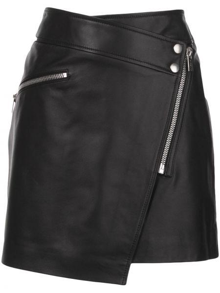 Spódnica mini skórzana z kieszeniami Anine Bing