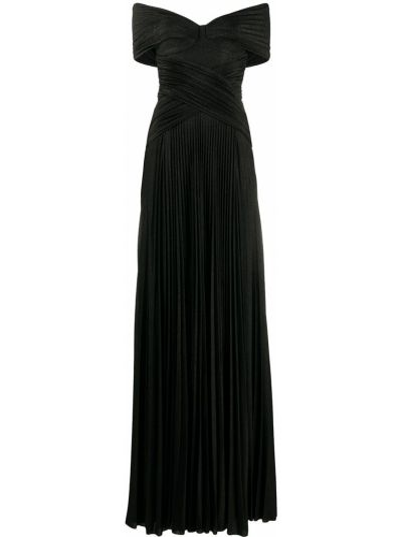 Черное платье с запахом с вырезом на молнии Elisabetta Franchi