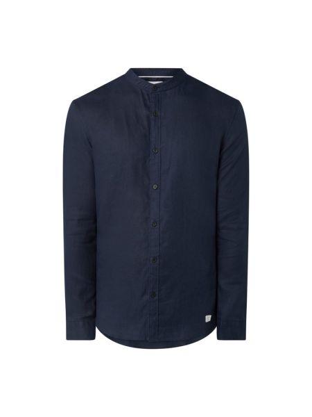 Niebieska koszula slim z długimi rękawami Nowadays