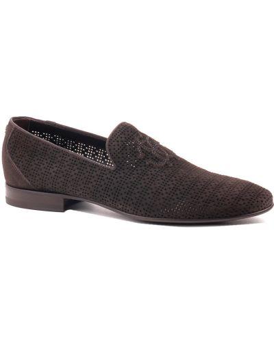 Туфли с перфорацией замшевые Roberto Cavalli
