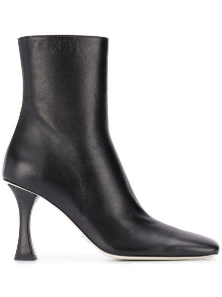Черные кожаные сапоги на шпильке на каблуке Proenza Schouler