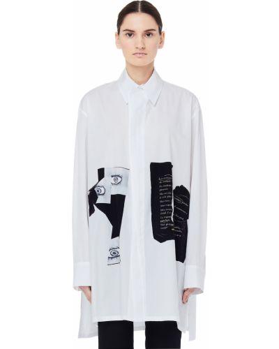 Блузка на кнопках белая Yohji Yamamoto