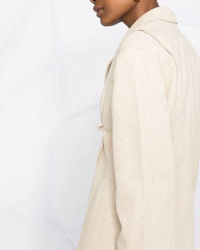 Хлопковый удлиненный пиджак с лацканами с потайной застежкой Jacquemus