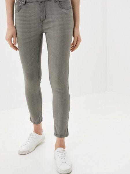 Серые джинсы-скинни с пайетками Sh