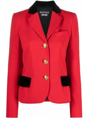 Бархатный пиджак - красный Boutique Moschino