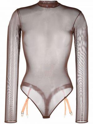 Body z siateczką - brązowy Maison Close
