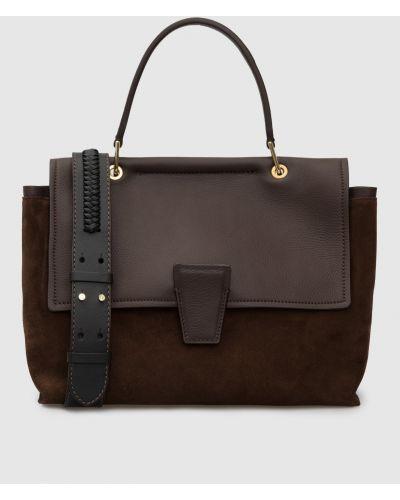 Замшевая сумка - коричневая Gianni Chiarini