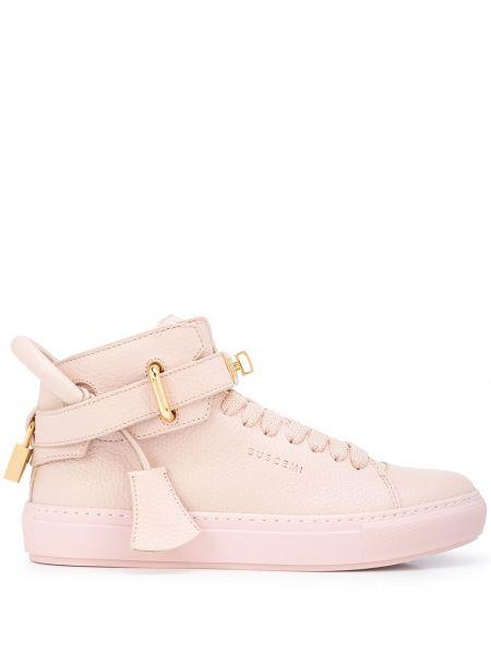 Różowe sneakersy koronkowe Buscemi