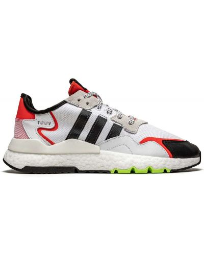 Białe joggery koronkowe sznurowane Adidas
