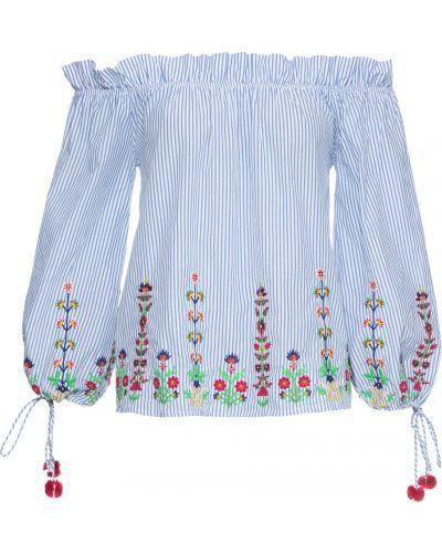 Блузка с вышивкой в полоску Bonprix