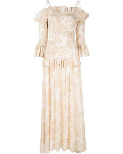 Шелковое платье - белое Thurley