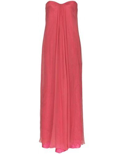 Плиссированное розовое вечернее платье винтажное One Vintage