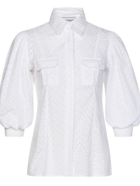Хлопковая блузка - белая Forte Couture