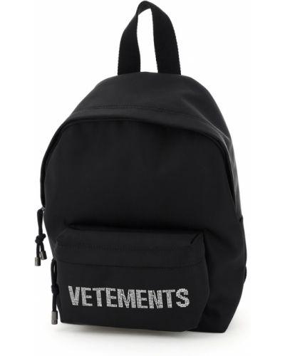 Czarny mały plecak Vetements