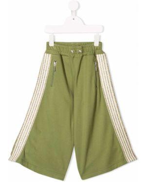 Зеленые брюки с поясом свободного кроя из вискозы Raspberry Plum