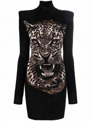 Платье макси длинное - черное Roberto Cavalli