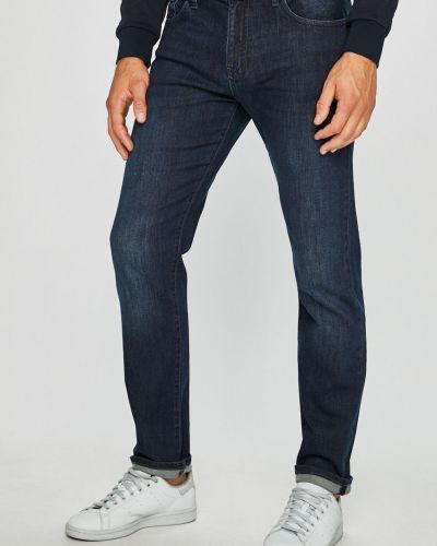 Прямые джинсы с завышенной талией на пуговицах Armani Exchange