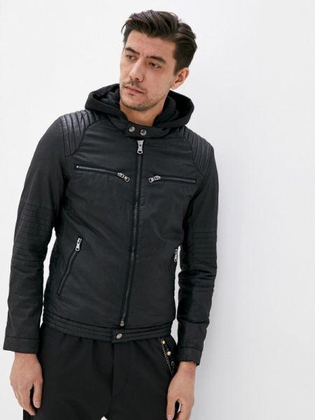 Кожаная черная кожаная куртка Jackets Industry