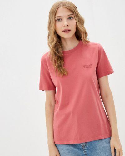 Розовая футболка с короткими рукавами Superdry