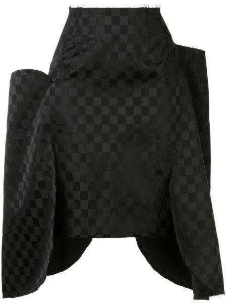 Черная плиссированная юбка мини со вставками Comme Des Garçons