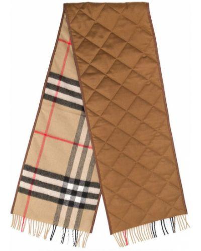 Brązowy szalik Burberry