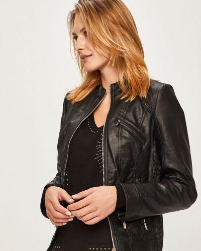 Кожаная куртка укороченная с карманами Morgan