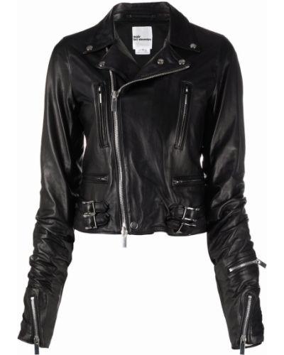 Кожаная куртка длинная - черная Comme Des Garçons Noir Kei Ninomiya