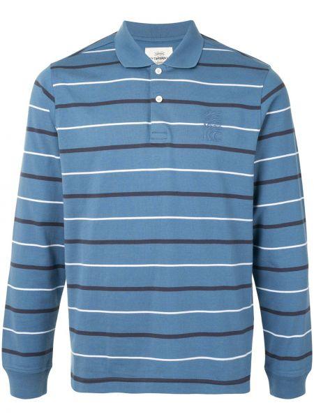 Синяя рубашка с воротником с вышивкой на пуговицах Kent & Curwen