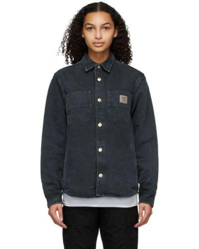 Bawełna z rękawami czarny koszula z mankietami Carhartt Work In Progress